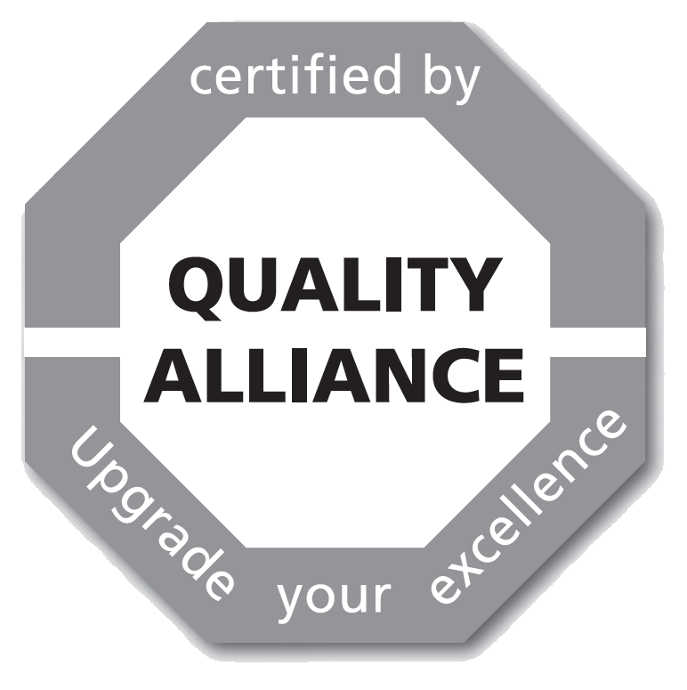 Certified by the Quality Alliance - Upgrade your excellence