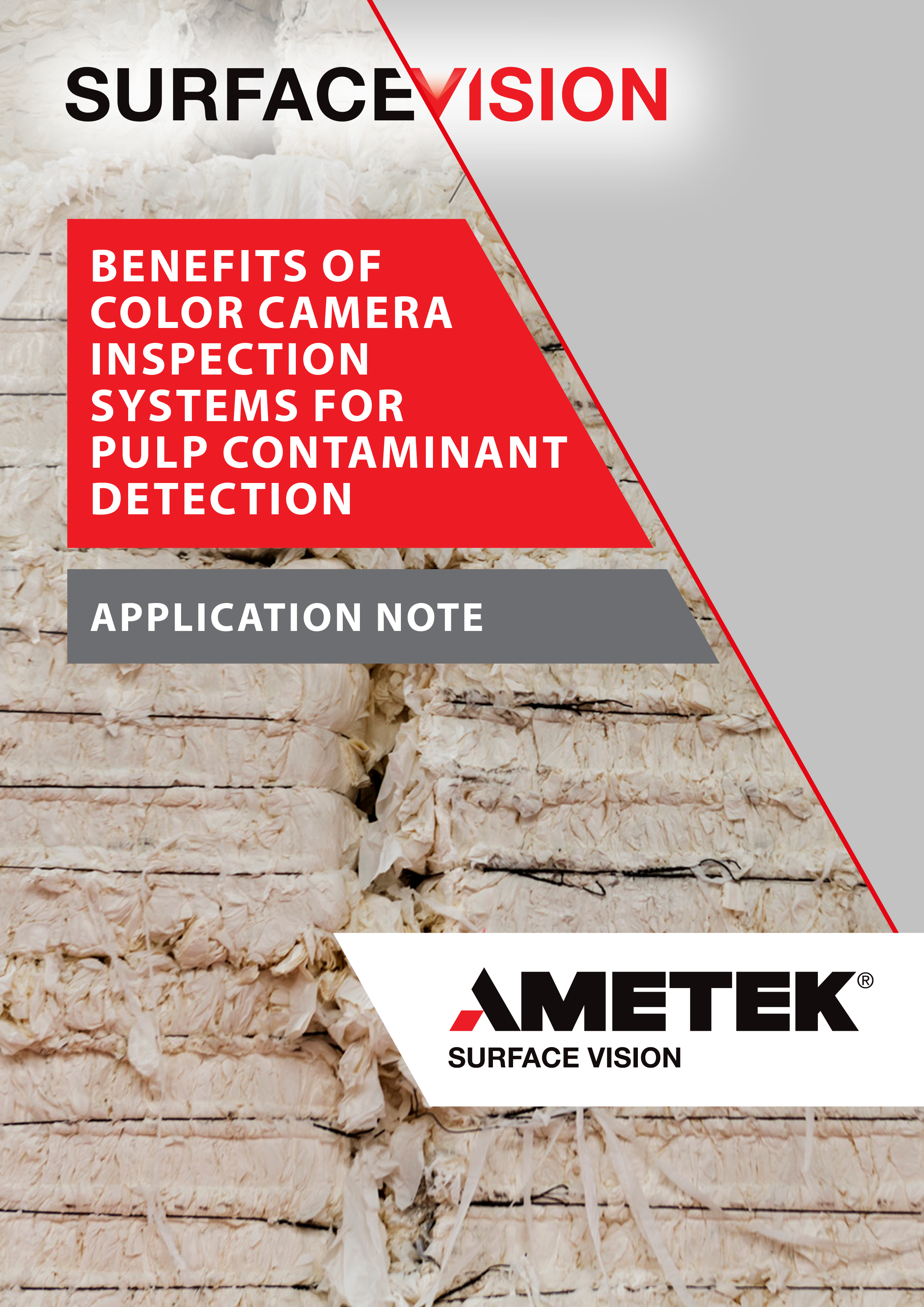 BENEFITS OF COLOR CAMERA INSPECTION SYSTEMS FOR PULP CONTAMINANT DETECTION - Application Note (EN)